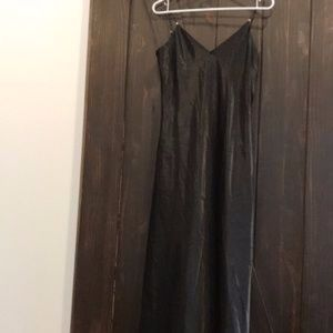 LaSenza Long silky black lingerie size small